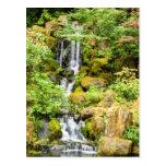 Cascada japonesa del jardín tarjetas postales