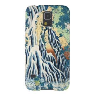 Cascada japonesa fresca de Hokusai del ukiyo-e del Carcasa De Galaxy S5