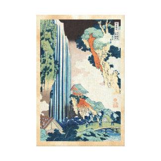 Cascada japonesa fresca de Hokusai del ukiyo-e del Impresión De Lienzo