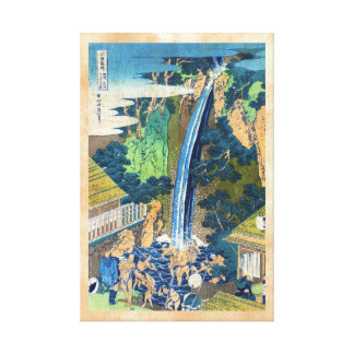 Cascada japonesa fresca Hokusai del ukiyo-e del vi Lienzo Envuelto Para Galerías