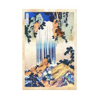 Cascada japonesa fresca Hokusai del ukiyo-e del vi Impresión De Lienzo