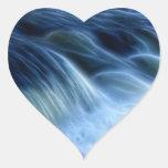 Cascada mágica calcomanías corazones
