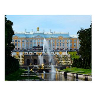 Cascada magnífica del palacio de Peterhof, Rusia Tarjeta Postal