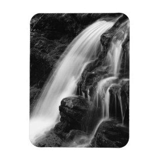 Cascada monocromática de Poconos Imán Foto Rectangular