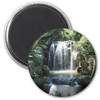 Cascada natural imán redondo 5 cm