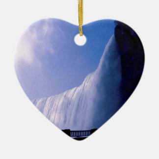 Cascada Niagara Falls Adorno Navideño De Cerámica En Forma De Corazón
