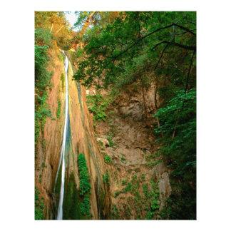 Cascada Nojoqui el condado de Santa Barbara Plantillas De Membrete