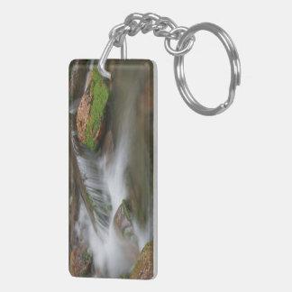 Cascada pacífica llavero rectangular acrílico a doble cara