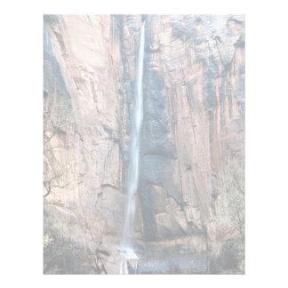 Cascada, parque nacional de Zion, Utah, los Membrete Personalizado