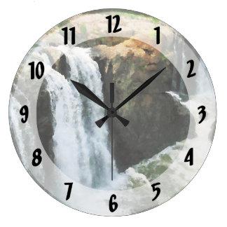 Cascada Paterson NJ Reloj Redondo Grande