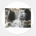 cascada pegatina redonda
