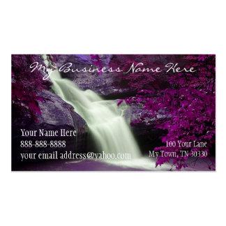 Cascada púrpura tarjetas de visita