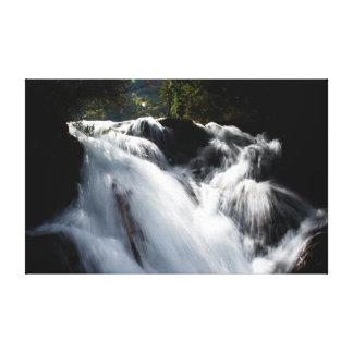 Cascada que hace espuma salvaje impresión en tela