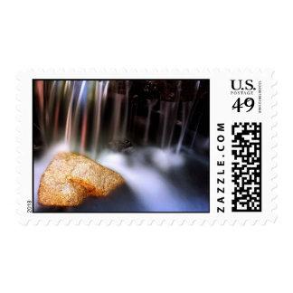 Cascada rayada timbres postales