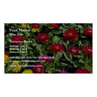 Cascada roja de las flores de las flores tarjeta de visita