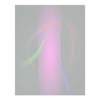 Cascada rosada abstracta en la oscuridad membrete