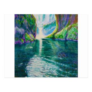 Cascada superior de Punchbowl, Oregon Tarjeta Postal