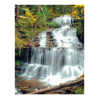Cascada Wagner el condado de Alger Michigan Membretes Personalizados