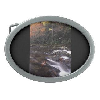 Cascada y colores de la caída hebillas cinturón ovales