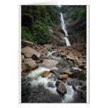 Cascada y río de la naturaleza tarjeta