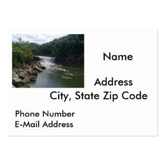 Cascada y río plantilla de tarjeta de negocio