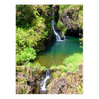 Cascadas a lo largo del camino a Hana, Maui, Tarjeta Postal