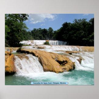 Cascadas de Agua Azul, Chiapas, Mexico Posters