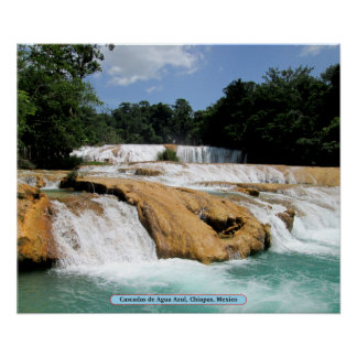 Cascadas de Agua Azul, Chiapas, Mexico Poster