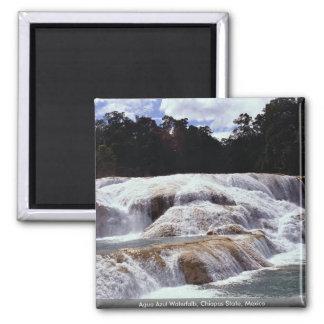 Cascadas de Azul del Agua estado de Chiapas Méxi Imán