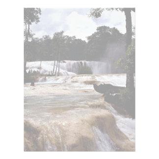 Cascadas de Azul del Agua, estado de Chiapas, Méxi Plantilla De Membrete