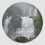 Cascadas de Costa Rica Etiqueta Redonda