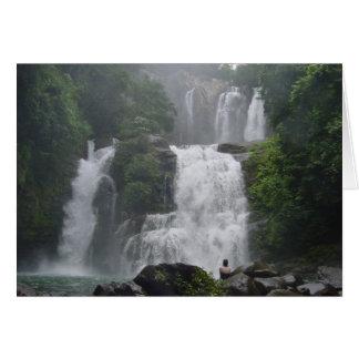 Cascadas de Costa Rica Tarjeta De Felicitación