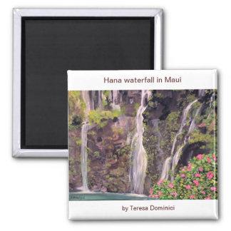 Cascadas de Hana en Maui, Hawaii Imán De Frigorífico