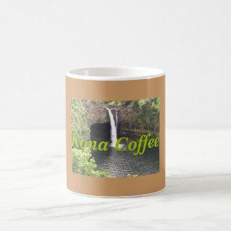 Cascadas de Kona, café de Kona Taza Básica Blanca