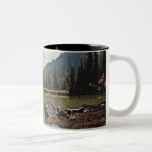 Cascadas de Oregon, lago devils Taza De Café