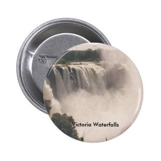 Cascadas de Victoria de la imagen del botón Pin Redondo De 2 Pulgadas