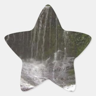Cascadas del oasis en Tasmania al sur de Australia Pegatina En Forma De Estrella