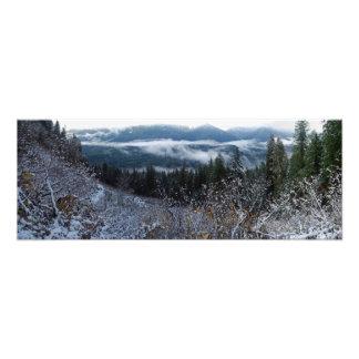 Cascadas del panorama de la impresión de la bella fotos