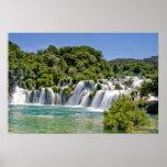Cascadas del parque nacional de Krka en Croacia Eu Posters