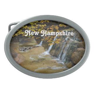 Cascadas en New Hampshire Hebillas De Cinturon Ovales