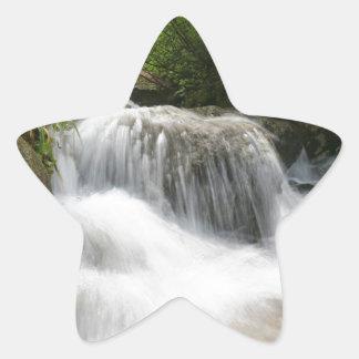 Cascadas - favorable foto pegatina en forma de estrella