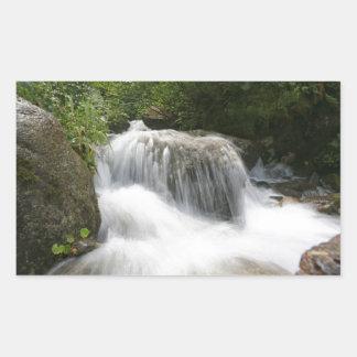 Cascadas - favorable foto pegatina rectangular