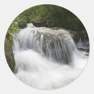 Cascadas - favorable foto pegatina redonda