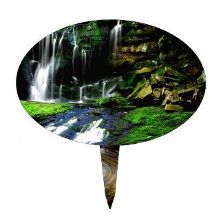 Cascadas tranquilas los E.E.U.U. de Elakala del ag Decoración De Tarta