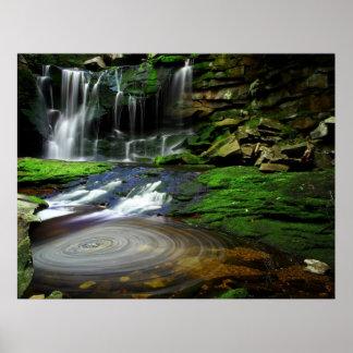 Cascadas Virginia Occidental de Elakala Póster