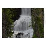 Cascadas Yellowstone de la ondina Tarjeta