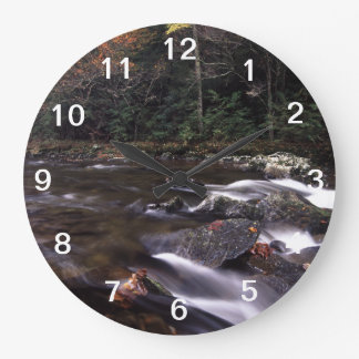 Cascade and Fall Colors Large Clock