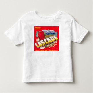 Cascade Apple Label (red) - Cashmere, WA Toddler T-shirt