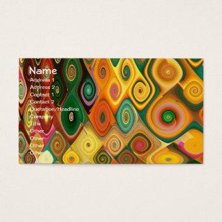 Cascade Cool Abstract Fine Art Fractal Business Card