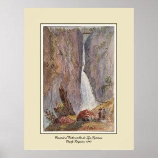 Cascade d'Gufer,vallie du Lys,Pyrenees Print